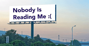 Nobody is Reading Me Sign
